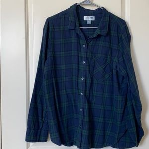"Old Navy ""classic"" plaid button up"